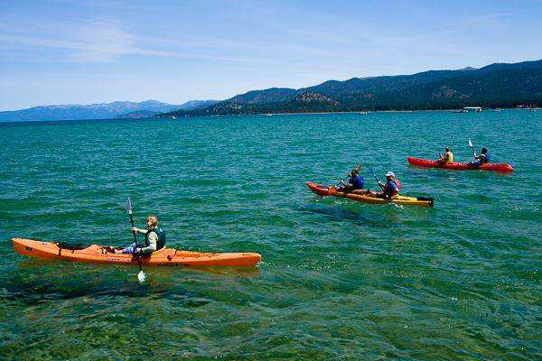 Round Magazine - Kayaks on Lake Tahoe
