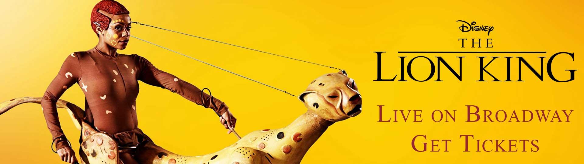 Lion King on Broadway advertisement